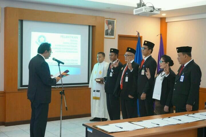 Pelantikan Dekan, Wadek dan Kaprodi Fakultas Vokasi UKI