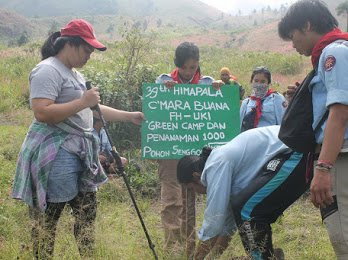 PKM dan Green Camp 2019 UKM C'Mara Buana FH-UKI