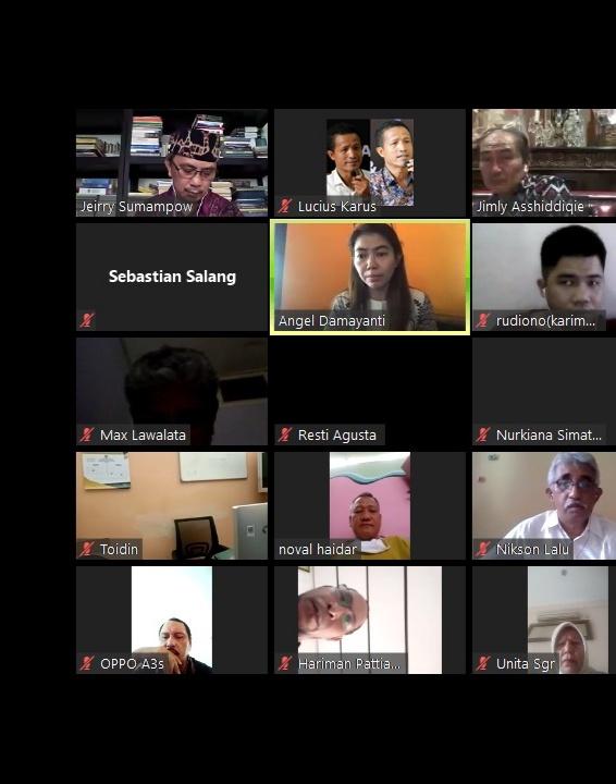 Diskusi Daring Oleh Jimly Institute dan Komite Pemilih Indonesia