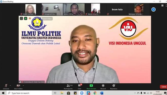 VIU dan Fisipol UKI Edukasi Warga Gereja Melek Politik