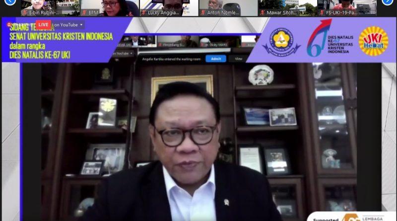 Dies Natalis ke 67 Universitas Kristen Indonesia: Dr. Agung Laksono Tekankan Pentingnya Kerjasama Internasional bagi Perguruan Tinggi