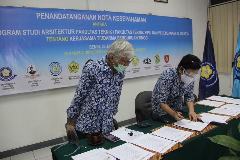 Penandatanganan MOU Kerjasama 11 PTS Prodi Arsitektur se-Jakarta