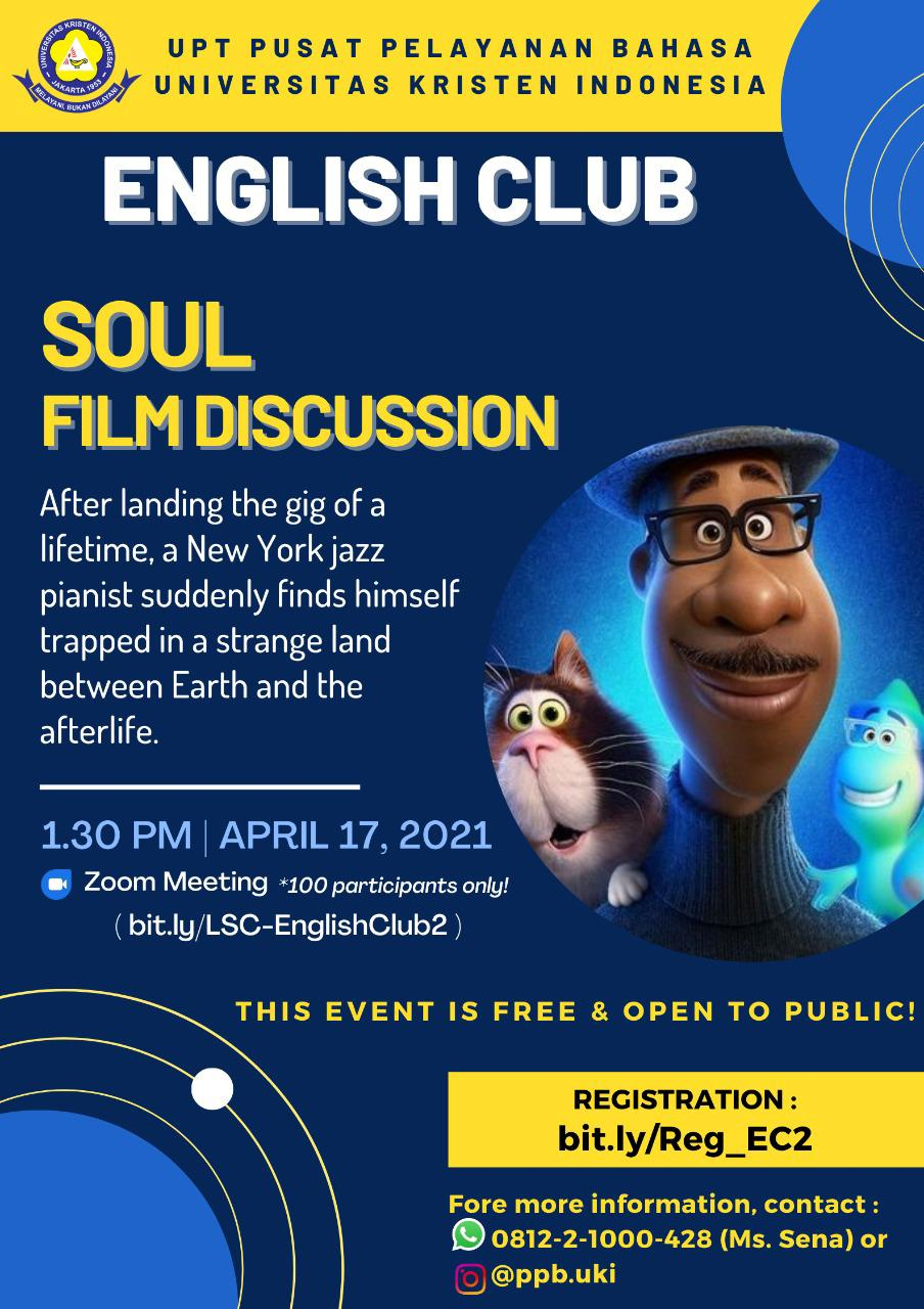 ENGLISH CLUB - SOUL FILM DISCUSSION