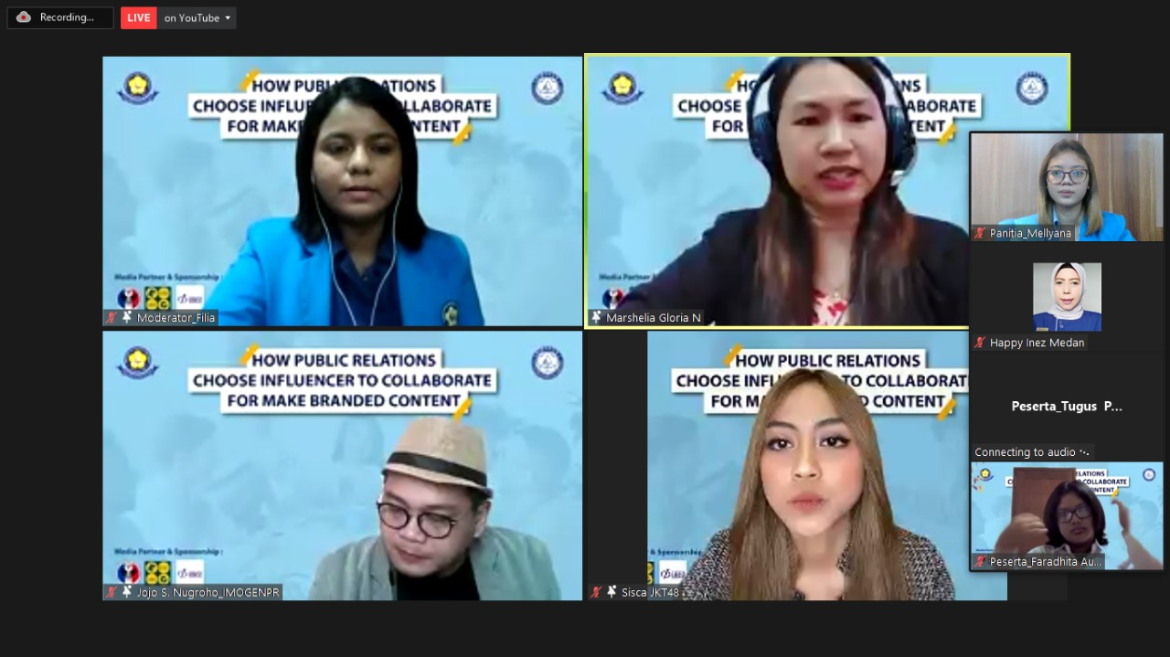 """Webinar  """"How Public Relations Choose Influencer To Collaborate For Make Branded Content"""""""