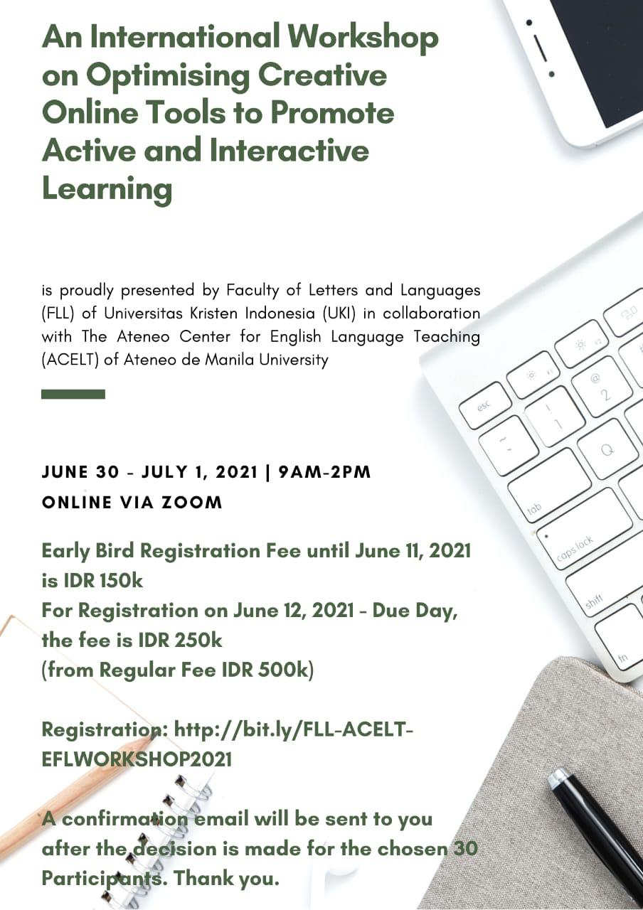 An International Workshop on Optimising Creative Online Tools to Promote Active and Interactive Learning