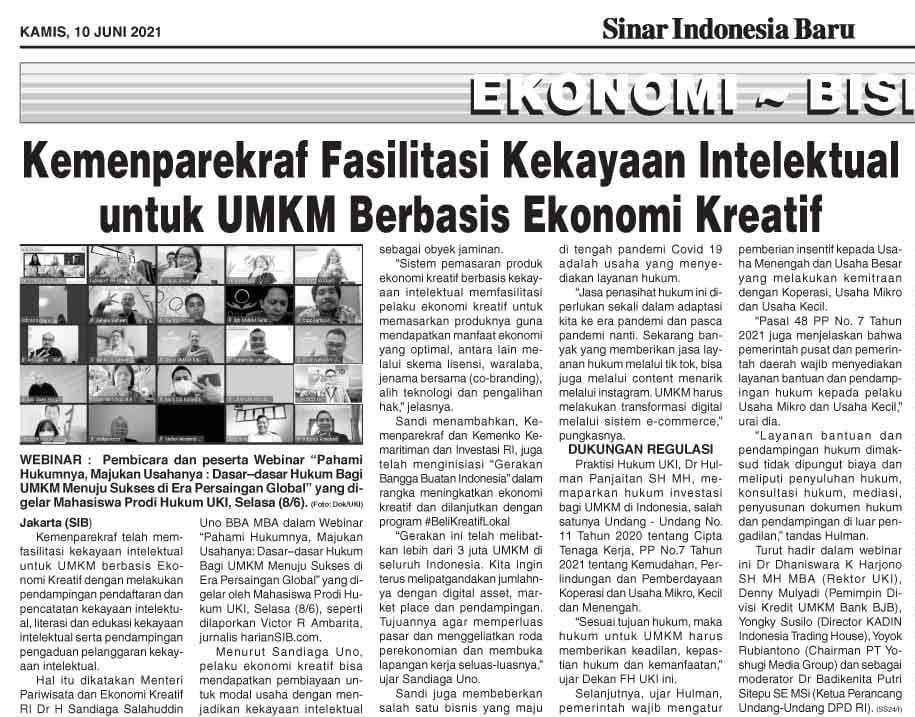 Webinar UMKM Mahasiswa Angkatan 2020