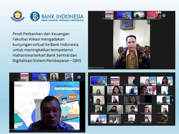Kunjungan Virtual Bank Indonesia ke Universitas Kristen Indonesia