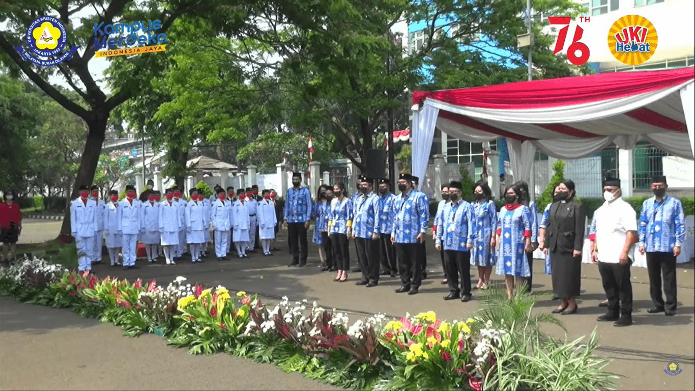 UKI Rayakan Peringatan HUT Kemerdekaan RI KE -76 Secara  Virtual