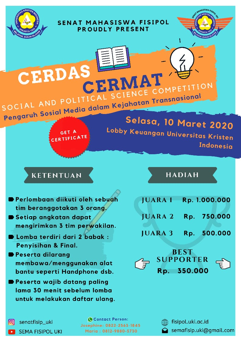Social and Political Science Competition Senat Mahasiswa FISIPOL UKI