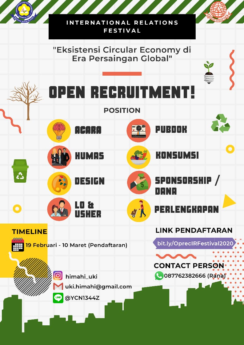 OPEN RECRUITMENT FOR IR FESTIVAL 2020 (19 February - 10 March 2020)