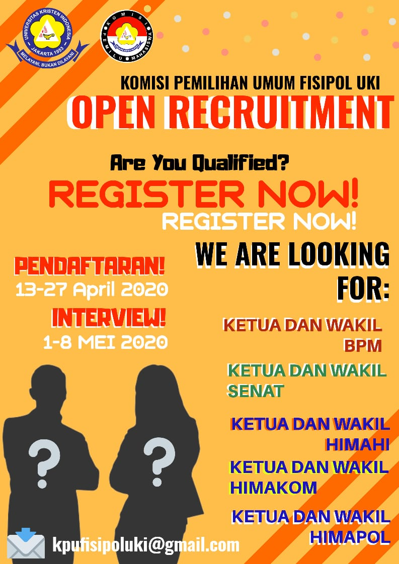Open Recruitment Komisi Pemilihan Umum (KPU) 13-27 APRIL 2020