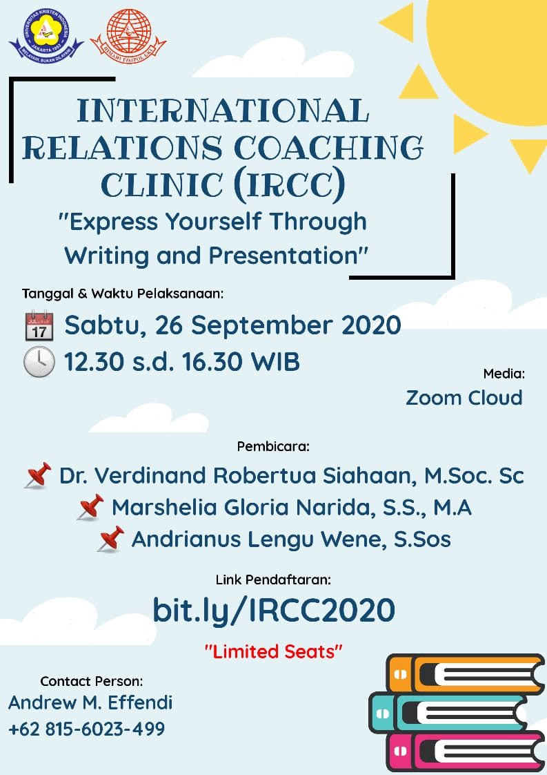 "International Relations Coaching Clinic (IRCC) ""Express Yourself Through Writing and Presentation"""