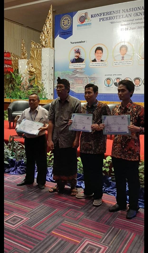 Susilo, S.Kom., MT, Dosen Fakultas Teknik UKI meraih Paper Terbaik di Konferensi Nasional KNEP-X Udayana Bali